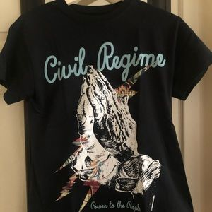 Pacsun small black civil regime graphic t shirt